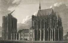 Goethe diante de duas catedrais góticas