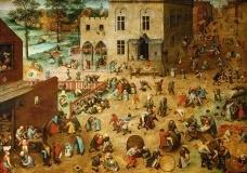 Pieter Bruegel (o velho), Jogos de crianças, 1560Imagem divulgação  [Museu de História da Arte de Viena/Wikimedia Commons]
