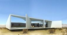 Residência Rothschild, Cesaréia, Israel, 1965, arquiteto Oscar NiemeyerModelagem tridimensional Marco Milazzo e Rômulo Almagro