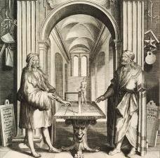 Duplo retrato de Albrecht Dürer, detalhe, gravura de Lucas Kilian, c.1628Imagen divulgación