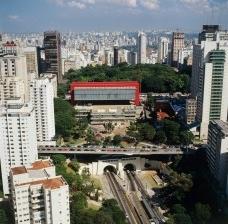 A torre do Masp na Avenida Paulista