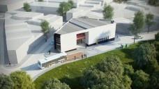 Projeto do Centro Comercial Santa Rita de CássiaFonte Boldarini Arquitetos Associados