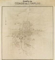 Mapa histórico de São Carlos [Coleção João Baptista de Campos Aguirra]