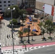 Largo São Francisco, situação depois da intervenção urbana, São PauloFoto divulgação  [gestadourbanasp]