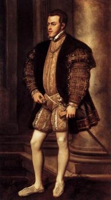 Filipe II da Espanha, retrato de TizianoImagem divulgação  [Wikimedia Commons]