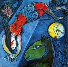 Marc Chagall, Le cirque bleu, 1950-1952, detalheImagem divulgação  [MNAM, Centre Pompidou]