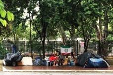 Moradores de rua, Praça do Rotary, Vila Buarque, São PauloFoto Abilio Guerra