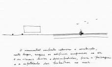 Cais das Artes, Enseada do Suá, Vitória. Croqui de Paulo Mendes da Rocha