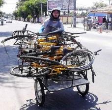Bicicletas doadas, Projeto AmeReciclo – Bota pra Rodar, da Ameciclo, Recife Foto divulgação  [website Ameciclo]