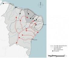 Os caminhos de ocupação do sertão nordestinoImagem divulgação  [JUCÁ NETO, Clovis, 2007]