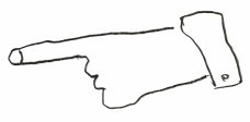 Mão apontando, modelo para as placas de comunicação visual do canteiro de obras do Sesc Pompeia, em São Paulo, 1977Desenho de Marcelo Ferraz