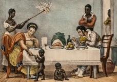 Família brasileira no Rio de Janeiro, Jean-Baptiste Debret, 1839Imagem divulgação  [Wikimedia Commons]