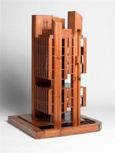 Edifício Oswaldo Bratke, maquete, projeto de Carlos BratkeFoto divulgação  [Acervo Centre Georges Pompidou]