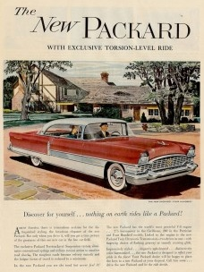 """Anúncio do carro """"The New Packard""""Imagem divulgação"""