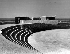 O Teatro de Arena da Universidade de Brasília capturado na paisagem