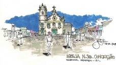 Largo da Igreja de N. Sra. da Conceição, Marechal Deodoro/ALDesenho José Clewton do Nascimento
