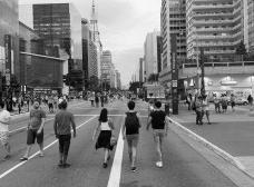 Avenida Paulista fechada para carros no domingoFoto Matheus Oliveira Costa