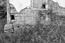 Parede externa de pau a pique sobre fundação de pedra, Distrito de Cachoeira do Brumado, Mariana MG, 2014Foto Elio Moroni Filho
