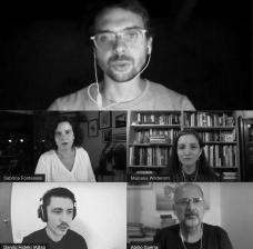 Fernando Tulio Salva Rocha Franco, Sabrina Fontenele, Mariana Wilderom, Danilo Hideki e Abilio GuerraImagem divulgação