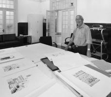 Júlio Abe na sede do Iphan, São PauloFoto Victor Hugo Mori