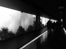 Início do corredor da Grande Galeria, Museu da Língua Portuguesa, São PauloFoto Tatiana Gentil Machado