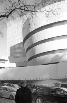 Guggenheim, com anexo no volume prismático ao fundoFoto Eliane Lordello, janeiro 2010