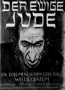 """Cartaz do filme de propaganda nazista """"Der Ewiger Jude"""" (O Eterno Judeu), 1940Imagem divulgação"""