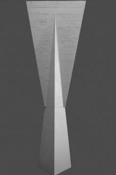 """Pilar da FAU USP, maquete, São Paulo, 1961. Arquitetos Vilanova Artigas e Carlos CascaldiFoto Tim Leite  [Exposição """"Nos pormenores um universo""""]"""
