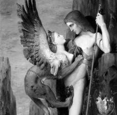Gustave Moreau, Édipo e a Esfinge (detalhe), 1864Imagem divulgação  [Metropolitan Museum of Art]