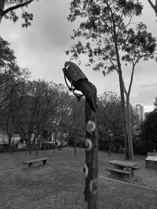 Parque Raul Seixas, parte da ludo-escultura de Elvira de Almeida, Itaquera, São Paulo SP BrasilFoto Lucas Lavecchia de Gouvea