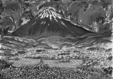 Desenho do storyboard de Akira Kurosawa para Ran, filme baseado em Rei Lear, peça teatral de William ShakespeareImagem divulgação