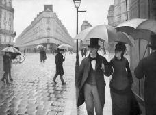 """Gustave Caillebotte, """"Rua de Paris com tempo chuvoso"""", 1877Imagem divulgação  [Wikimedia Commons]"""