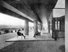 """Vista del pilotis del Pabellón suizo en la ciudad universitaria de Paris, proyecto de Le CorbusierFoto divulgação  [""""Le Corbusier et Pierre Jeanneret: OEuvre Complète 1929-1934"""" (Vol. 4, Les Editions D'Arch]"""
