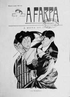 Capa da revista A Farpa, n.1, 1910Imagem divulgação