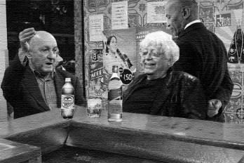 O poeta e o crítico numa mesa de bar