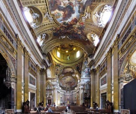 Igreja de Gesù, interior, Roma, arquiteto Giacomo Della PortaFoto Victor Hugo Mori