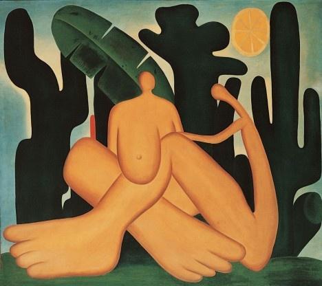 Tarsila do Amaral, Antropofagia, 1929Imagem divulgação  [Coleção Fundação José e Paulina Nemirovsky]