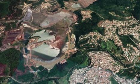 Barragem Casa de Pedra e malha urbana, Congonhas MGFoto divulgação  [Google Maps]