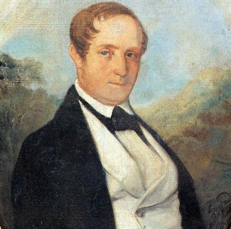 Johann Moritz Rugendas, Retrato de Ludwig Riedel (detalhe), óleo s/ tela, 1846Imagem divulgação  [Wikimedia Commons]