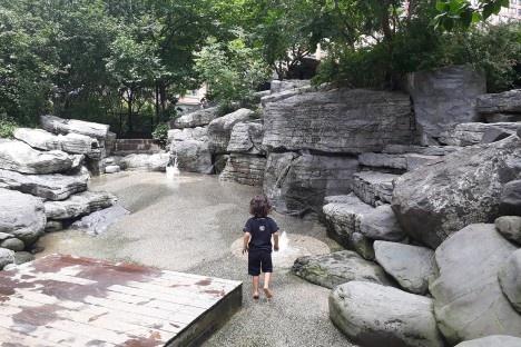 Teardrop Park, mapa com principais pontos de atração do parque, Nova York, 2018Foto Lidiane Espindula