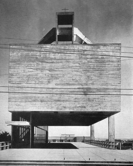 Igreja São Bonifácio, 1964-66Foto Williams Studio/ divulgação  [Revista Acrópole, n. 344, out, 1967, p. 25]