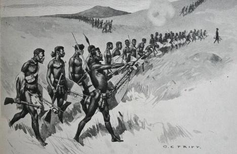 Charles Edwin Fripp. Guerra Zulu, 1879Domínio público  [Wikimedia Commons]