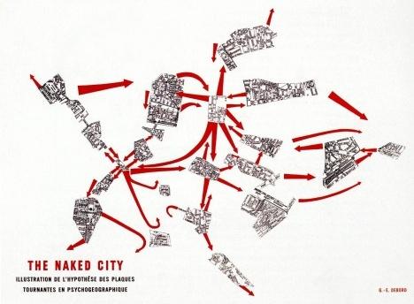 Guy Debord, The Naked City, 1957Imagem divulgação