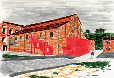 Teatro do Engenho, Piracicaba SP. Escritório Brasil ArquiteturaDesenho Luana Espig, 2014