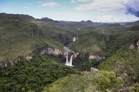 Alto Paraíso de Goiás GO, vista dos Saltos do Rio Preto, área que faz parte da proposta de ampliação do Parque Nacional da Chapada dos VeadeirosFoto Marcelo Camargo  [Agência Brasil]