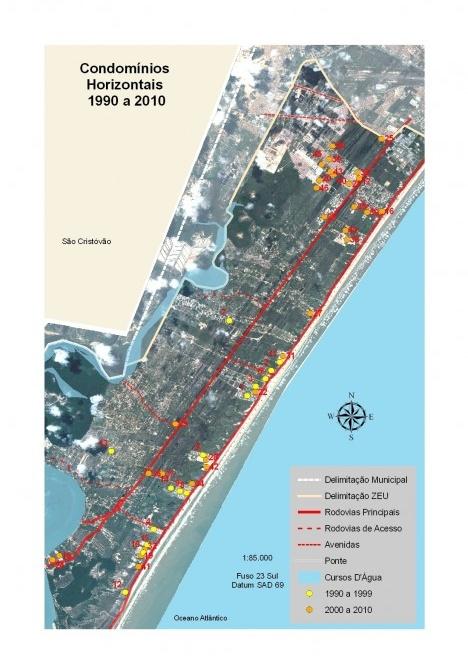 Evolução da Implantação dos Condomínios Horizontais, 1990-2010 [PMA/EMURB/DPB, 2010. Editado por Sarah França, 2011]