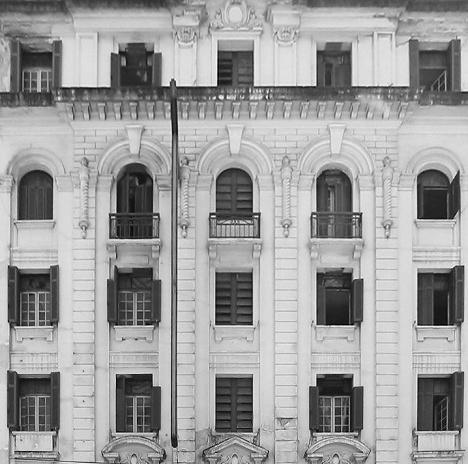 Hotel Columbia Palace, detalhe da fachada, Avenida São João, São PauloFoto Denise Helena Silva Duarte