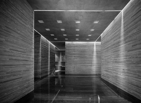 Termas de Vals, Suíça, arquiteto Peter ZumthorFoto divulgação  [Prize Pritzker]