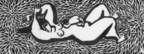 """""""Laura"""", gravura de Virginia ArtigasImagem divulgação"""