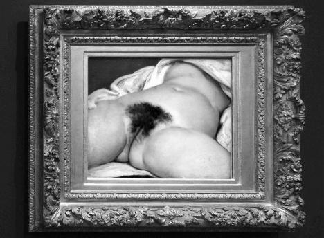 L'Origine du Monde (A Origem do mundo), Museu d'Orsay, Paris. Gustave Courbet, 1866 Foto divulgação  [website Museu d'Orsay]